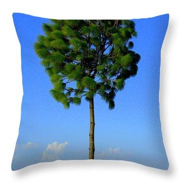Lone Tree Throw Pillow by Salman Ravish