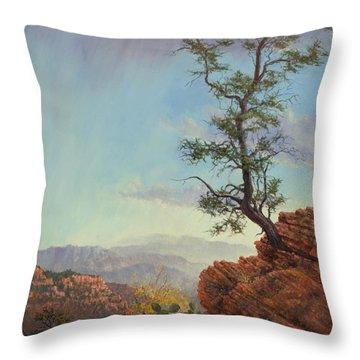 Lone Tree Struggle Throw Pillow