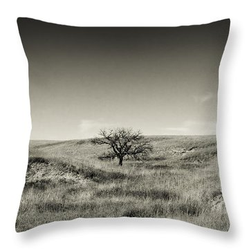Lone Tree Winter Throw Pillow