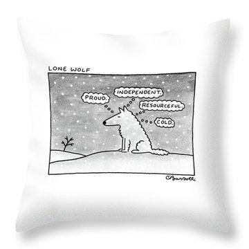 Lone Wolf: Throw Pillow