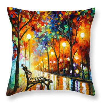 Loneliness Of Autumn Throw Pillow