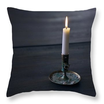 Lonely Candle Throw Pillow