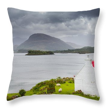 Lonely Cottage Throw Pillow by Maciej Markiewicz