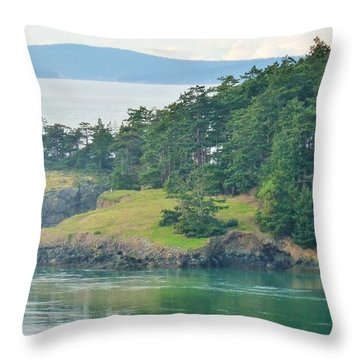 Lonely Island Off Deception Pass Throw Pillow