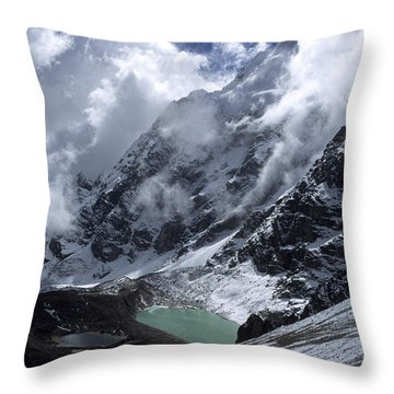 Lonely Lake On The Inca Trail Throw Pillow