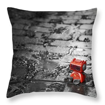 Lonely Little Robot Throw Pillow