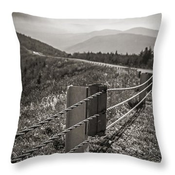 Lonely Mountain Road Throw Pillow