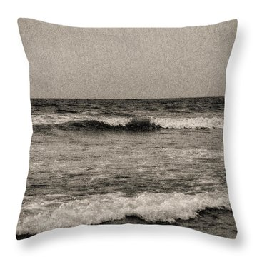 Lonely Ocean Throw Pillow by J Riley Johnson