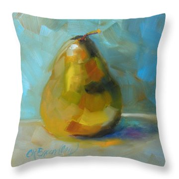Lonely Pear Throw Pillow