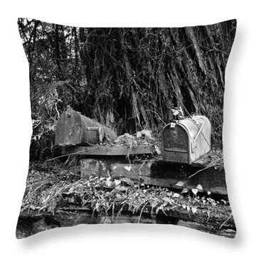 Lonely Post Throw Pillow