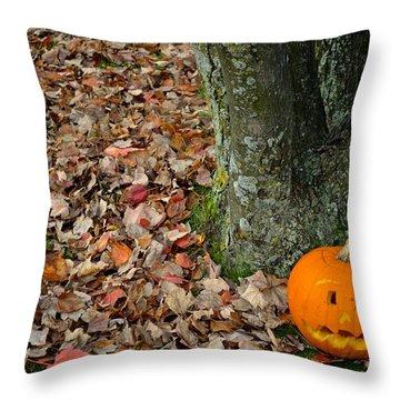 Lonely Pumpkin Throw Pillow
