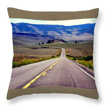 Throw Pillow featuring the photograph Lonely Road by Antonia Citrino