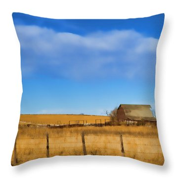 Lonely Throw Pillow by Sylvia Thornton