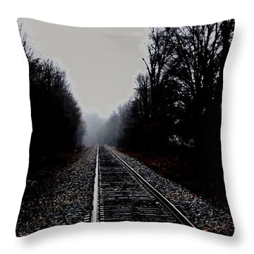 Lonely Tracks Throw Pillow