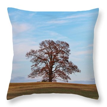Lonely Tree Throw Pillow by Cynthia Guinn