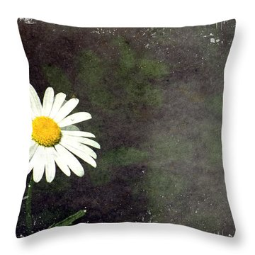 Lonesome Daisy Throw Pillow