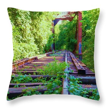 Lonesome Railroad #5 Throw Pillow by Robert ONeil
