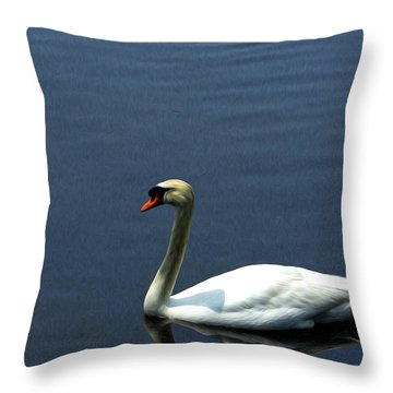 Lonesome Swan Throw Pillow