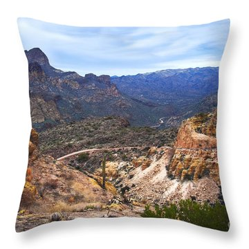 Long And Winding Apache Trail Throw Pillow