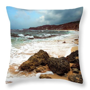 Long Bay - A Place To Remember Throw Pillow by Hannes Cmarits