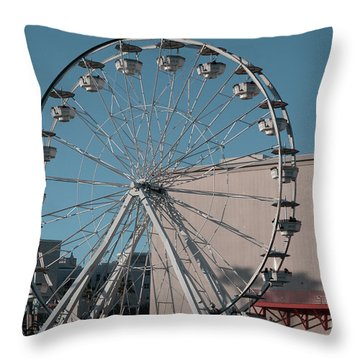 Throw Pillow featuring the photograph Long Beach In Technicolor by Clayton Bruster