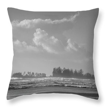 Long Beach Landscape  Throw Pillow