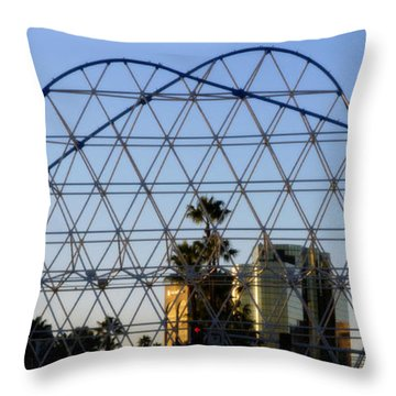 Throw Pillow featuring the photograph Long Beach Lines by Clayton Bruster