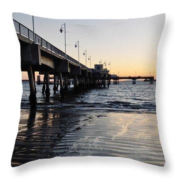 Throw Pillow featuring the photograph Long Beach Pier by Kyle Hanson