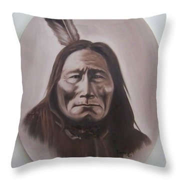 Throw Pillow featuring the painting Long Bear by Michael  TMAD Finney