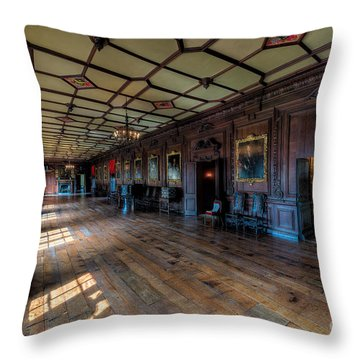 Long Gallery Throw Pillow by Adrian Evans