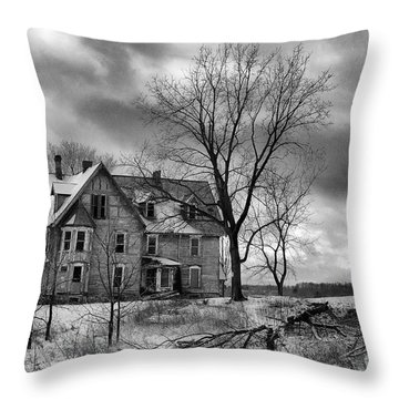 Long Hard Winter Throw Pillow