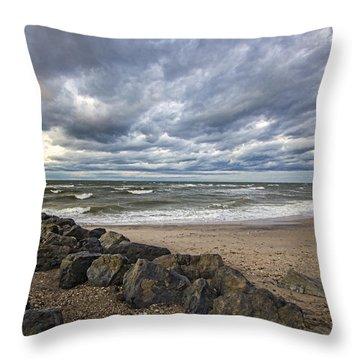 Long Island Sound Whitecaps Throw Pillow