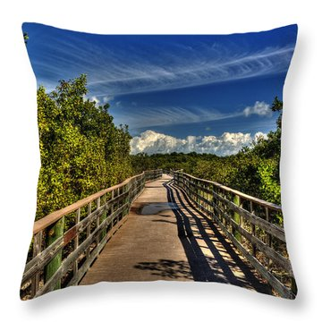 Throw Pillow featuring the photograph Long Key Park Passage by Julis Simo