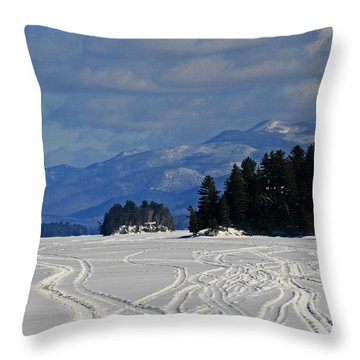 Long Lake Throw Pillow by Heather Allen