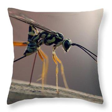 Long Legged Alien Throw Pillow