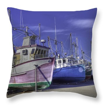 Throw Pillow Liners : Long Liners Dry Dock Photograph by Crystal Fudge