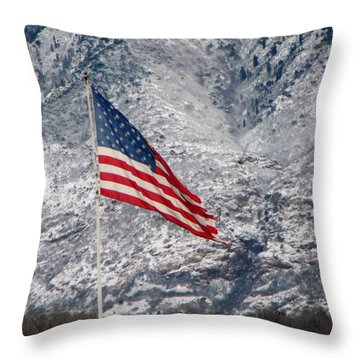Throw Pillow featuring the photograph Long May She Wave by John Glass