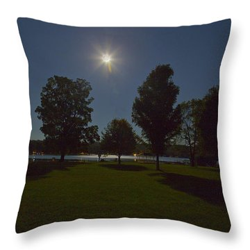 Night Shadows  Throw Pillow by Richard Engelbrecht