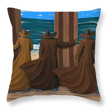 A Long Ride West Throw Pillow