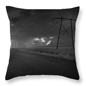 Throw Pillow featuring the photograph Long Road Home by Bradley R Youngberg