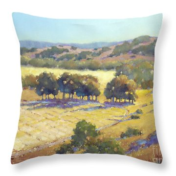 Long Shadows At Los Olivos Throw Pillow