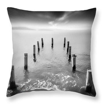 Long Silence Throw Pillow by Taylan Apukovska