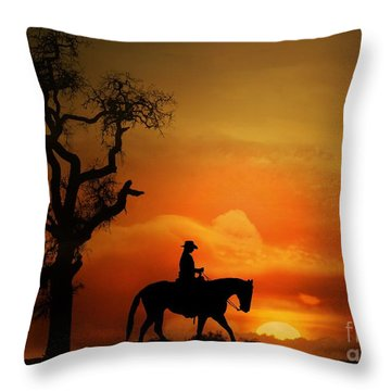 Western Pleasure Horse Throw Pillows