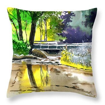 Long Time No See Throw Pillow by Anil Nene