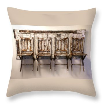 Long Wait By The Door Throw Pillow