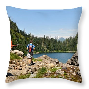 Throw Pillow featuring the photograph Long Walk Back 22 by Rebecca Parker