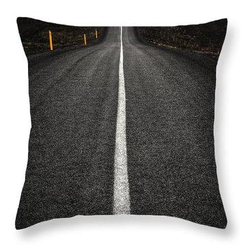 Long Way To Nowhere Throw Pillow