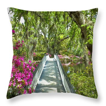 Long White Bridge Throw Pillow