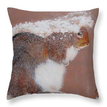 Long Winter Throw Pillow by Jean Yves Crispo