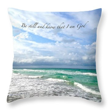 Throw Pillow featuring the photograph Be Still by Margie Amberge